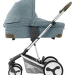 Hybrid Edge carrycot side Mineral Blue