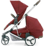 Hybrid Tandem eat + carrycot Lava Red