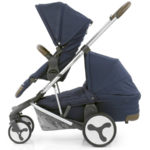 Hybrid Tandem eat + carrycot Simply Navy