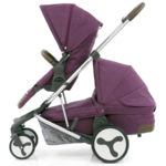 Hybrid Tandem eat + carrycot Wild Orchid