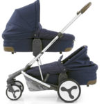 Hybrid Tandem two carrycots Simply Navy