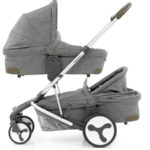Hybrid Tandem two carrycots Stonewash