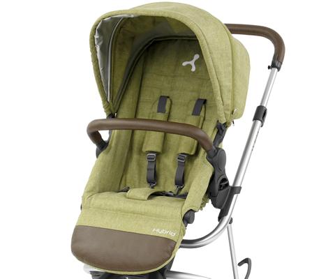 Hybrid stroller seat & hood