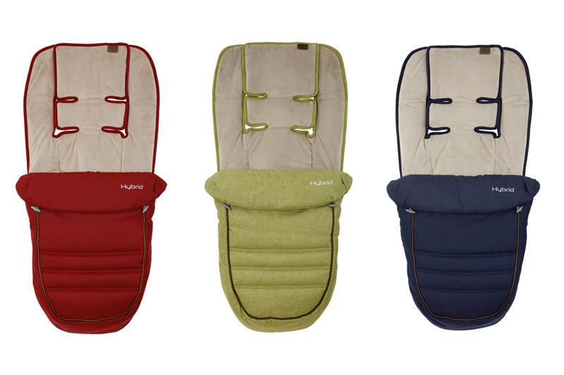 Hybrid stroller footmuff accessory