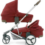Hybrid Tandem two carrycots Lava Red