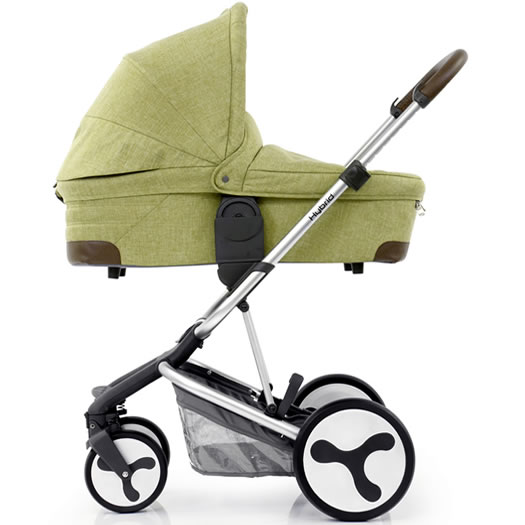Hybrid Edge carrycot side Pistachio